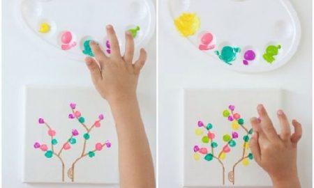 Parmak Baskısı ile Ağaç Yapımı