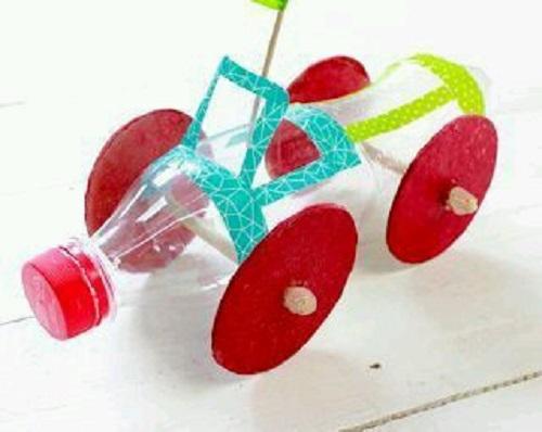Pet Şişe ile Araba Yapımı