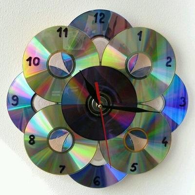 Cd ile Dekoratif Saat-3