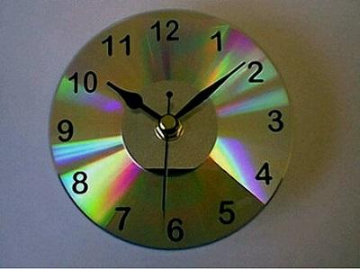 Cd ile Dekoratif Saat-4