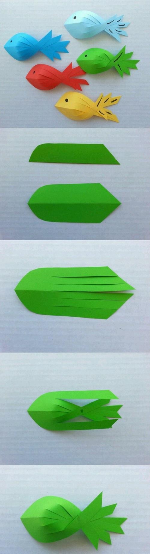 Fon Kartonundan Balık Yapımı Resimli Anlatım