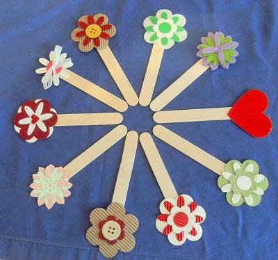 Hobi Çubukları ile Çiçek-1