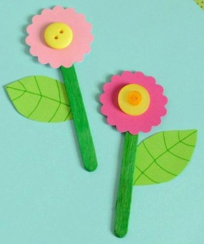 Hobi Çubukları ile Çiçek-2