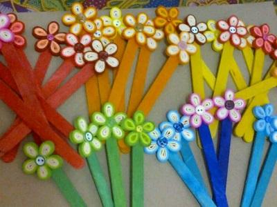 Hobi Çubukları ile Çiçek-3