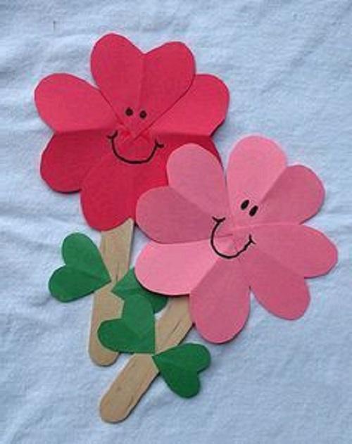 Hobi Çubukları ile Çiçek Yapımı