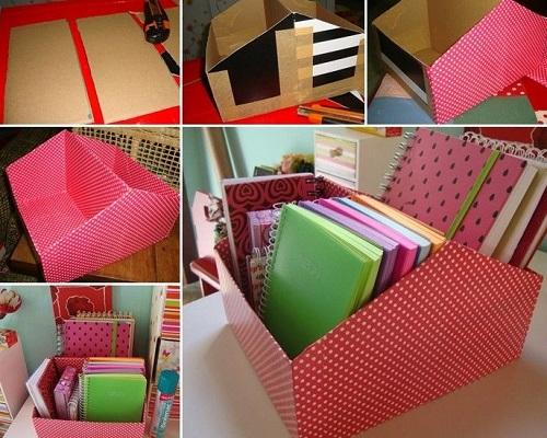 Karton Kutudan Kitaplık Yapımı
