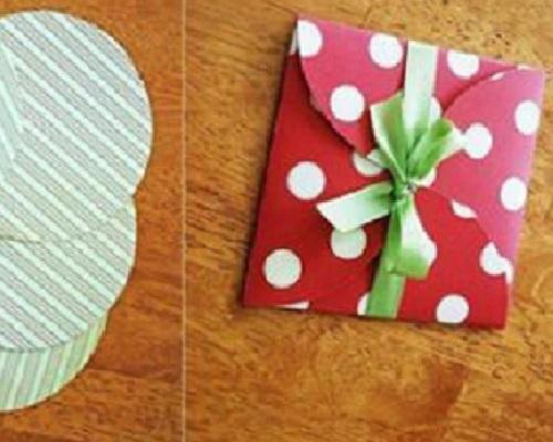 Kartondan Zarf Hediye Paketi Yapımı