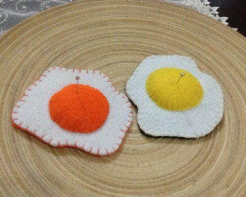 Keçeden Yumurta İğnelik Yapımı