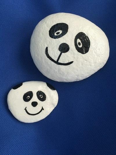 Taş Boyama ile Panda Yapımı-1