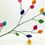 Yaprak Motifleri ile Dekoratif Süs Yapımı