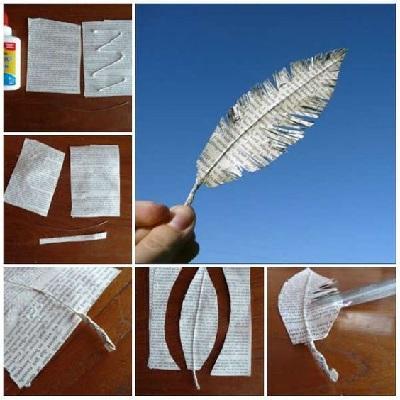Kağıttan Dekoratif Tüy Yapımı-1