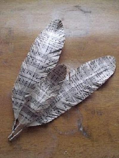 Kağıttan Dekoratif Tüy Yapımı-3