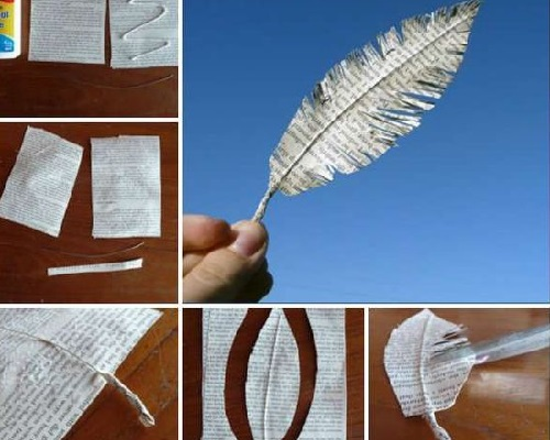 Kağıttan Dekoratif Tüy Yapımı