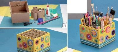 Karton Kutudan Kalemlik Yapımı-1