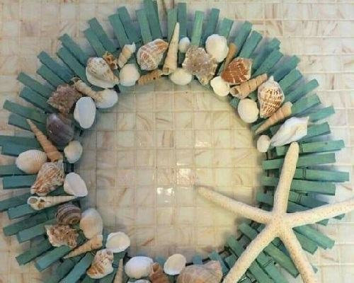 Mandal ve Deniz Kabukları ile Kapı Süsü Yapımı