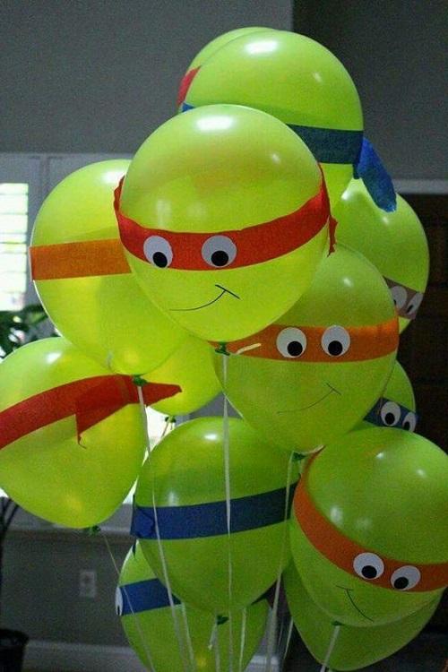 Balonla Ninja Kaplumbağa Yapımı-1