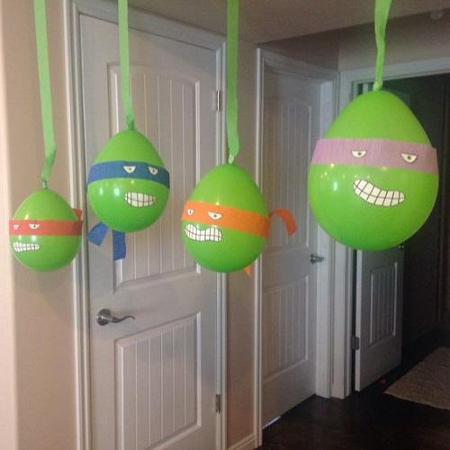 Balonla Ninja Kaplumbağa Yapımı-2