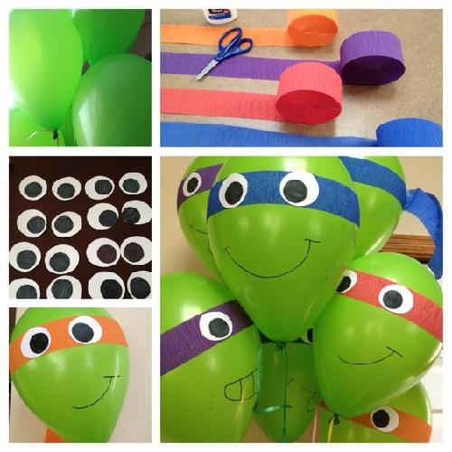 Balonla Ninja Kaplumbağa Yapımı Resimli Anlatım-1