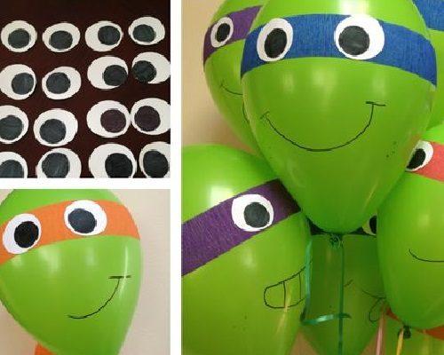 Balonla Ninja Kaplumbağa Yapımı Resimli Anlatım