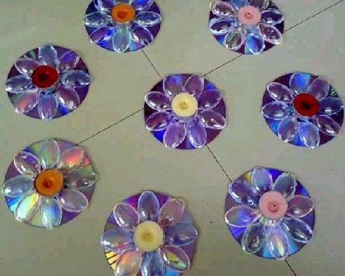 Cd ve Plastik Kaşıklarla Mumluk Yapımı