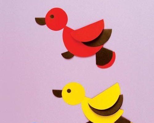 El İşi Kağıdından Kuş Yapımı