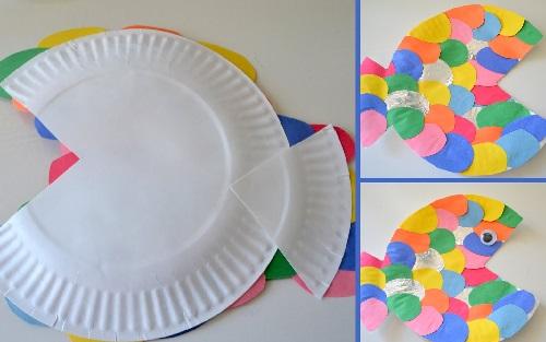 Kağıt Tabaktan Balık Yapımı Resimli Anlatım-1