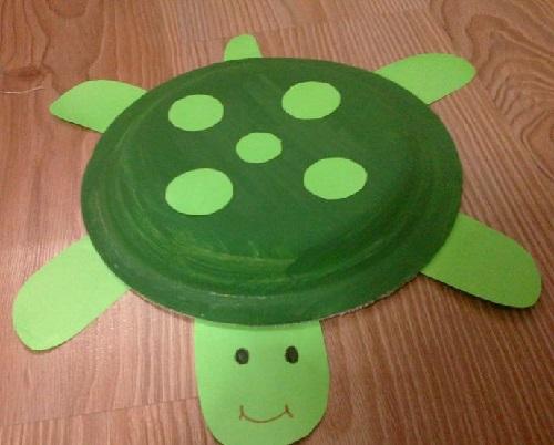 Kağıt Tabaktan Kaplumbağa Yapımı-1