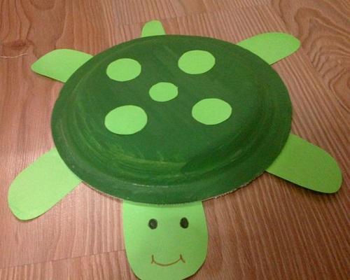 Kağıt Tabaktan Kaplumbağa Yapımı