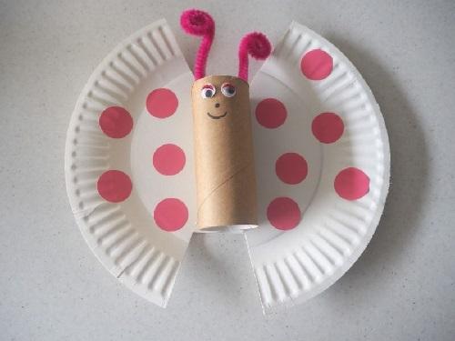 Kağıt Tabaktan Kolay Kelebek Yapımı-1