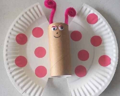 Kağıt Tabaktan Kolay Kelebek Yapımı