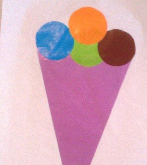El İşi Kağıdından Dondurma Yapımı-1