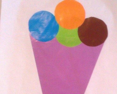 El İşi Kağıdından Dondurma Yapımı