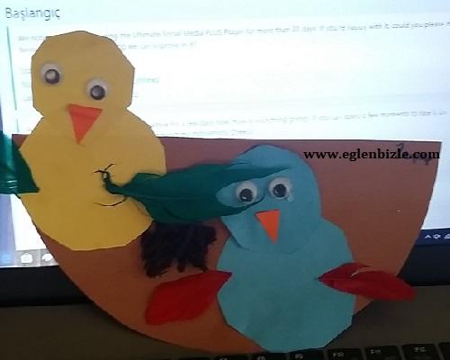 Fon Kartonu ile Kuş Yuvası Yapımı