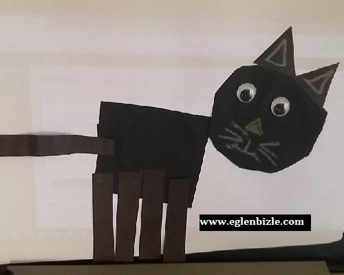 Fon Kartonundan Kedi Yapımı
