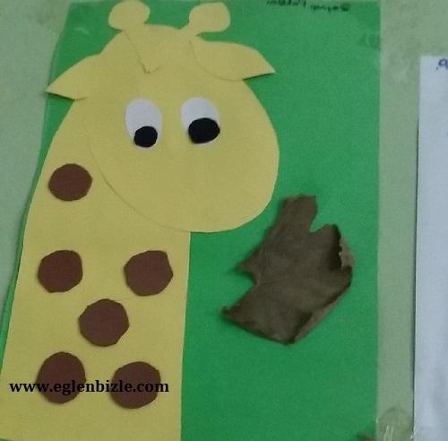 Fon Kartonundan Zürafa Yapımı-1