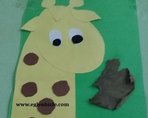 Fon Kartonundan Zürafa Yapımı