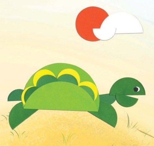 Kağıt Katlama Kaplumbağa Yapımı-1