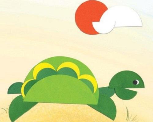 Kağıt Katlama Kaplumbağa Yapımı