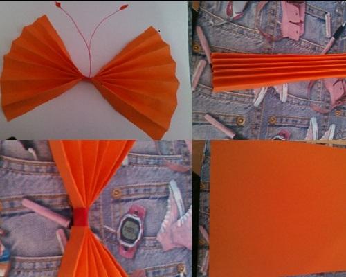 Kağıt Katlama Kelebek Yapımı