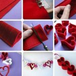 Keçeden Kolay Kalp Yapımı