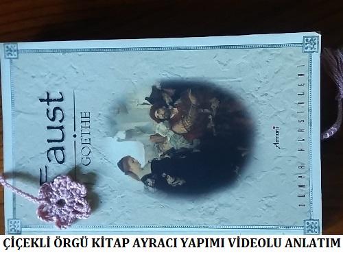 Çiçekli Örgü Kitap Ayracı Yapımı Videolu Anlatım