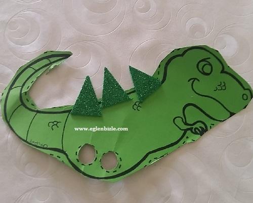 Kartondan Dinozor Parmak Kukla Yapımı
