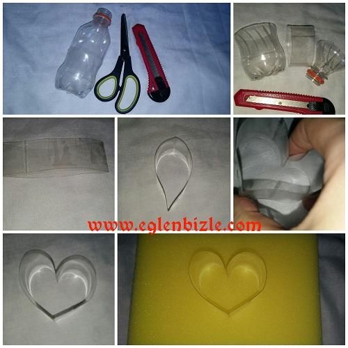 Pet Şişeden Kalp Yapımı Resimli Anlatım