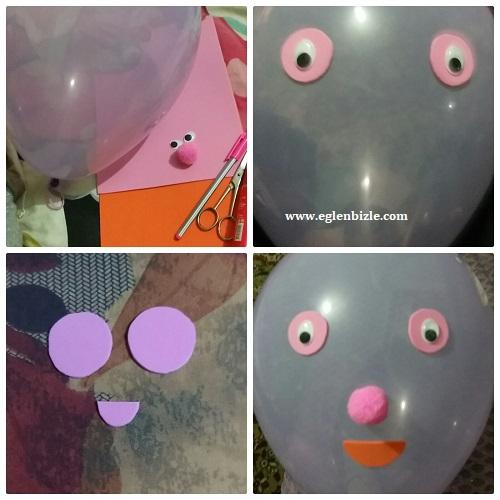 Eva ile Balon Süslemesi Resimli Anlatım