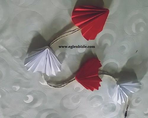 Kağıttan Kalpli Sarkaç Yapımı