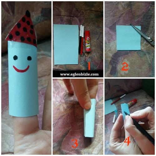 Parmak Kukla Yapımı Resimli Anlatım