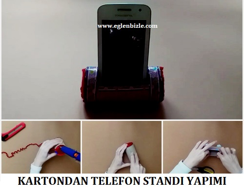 Kartondan Telefon Standı Yapımı