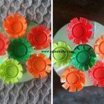 Cd ve Plastik Kapaklarla Dekoratif Süs Yapımı