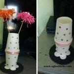 Karton Bardaktan Vazo Yapımı