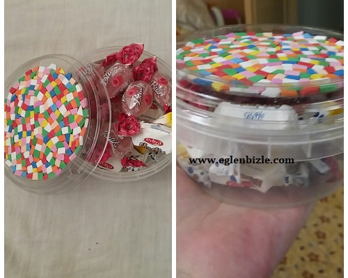 Plastik Kutudan Kolay Şekerlik Yapımı